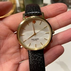 Kate space black and gold watch